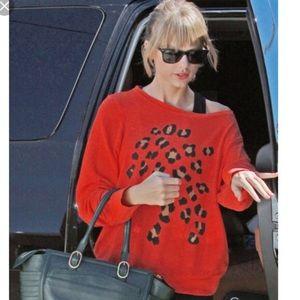 Wildfox white label sequin cheetah sweater